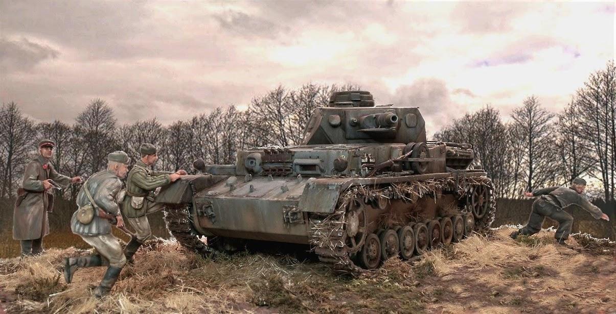 Диорамы и виньетки: Трофейный Pz-IV Ausf.F1, фото #3