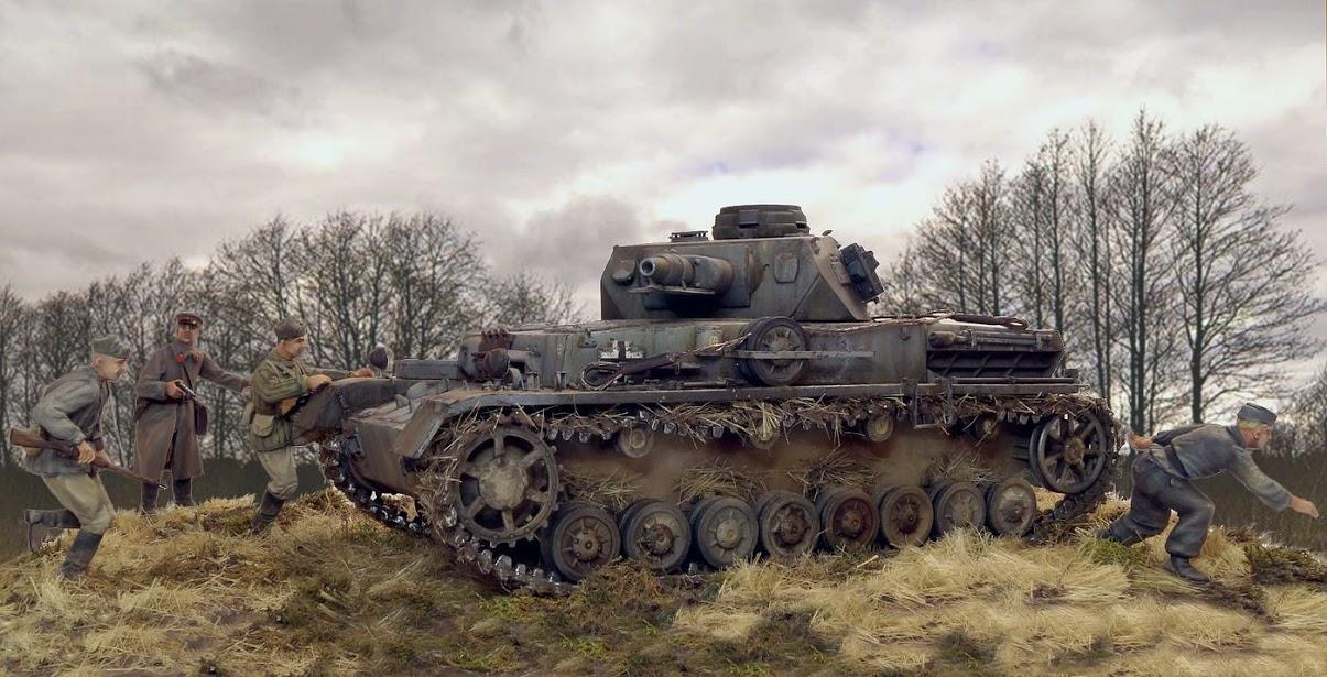 Диорамы и виньетки: Трофейный Pz-IV Ausf.F1, фото #4