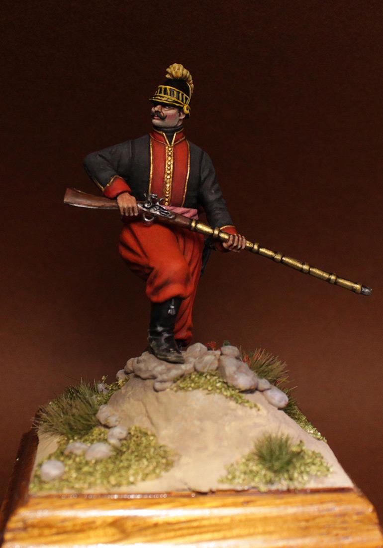 Фигурки: Унтер-офицер 1-го батальона Греческого пехотного полка, 1779-1796 гг., фото #2