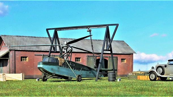 Диорамы и виньетки: Немецкий ротопланер Фокке Ахгелис Fa-225V-1