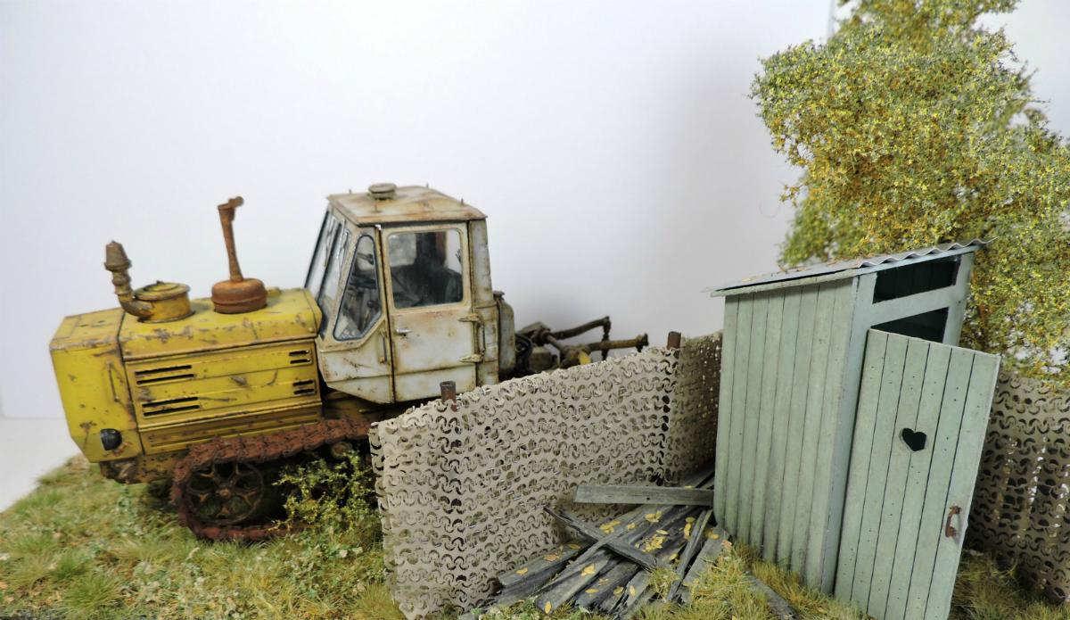 Диорамы и виньетки: Трактор Т-150, фото #2