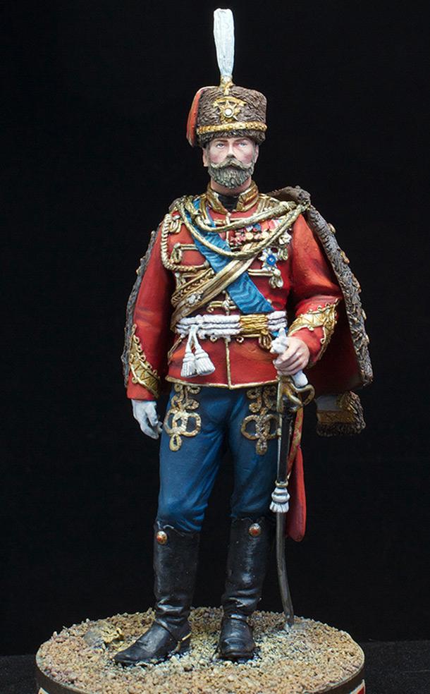Фигурки: Николай II в форме Лейб-Гвардии Гусарского полка, 1907 г.