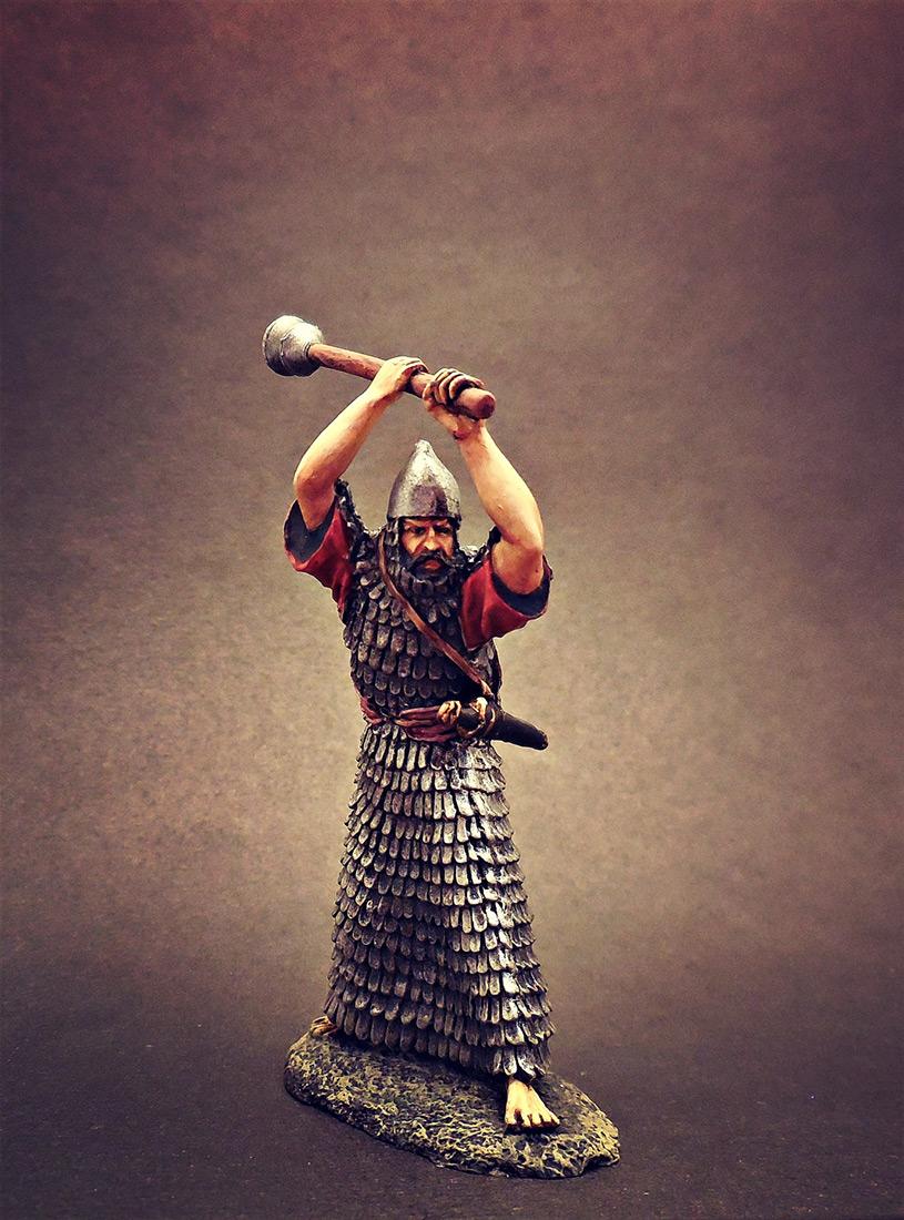 Фигурки: Ассирийский воин с булавой, фото #3
