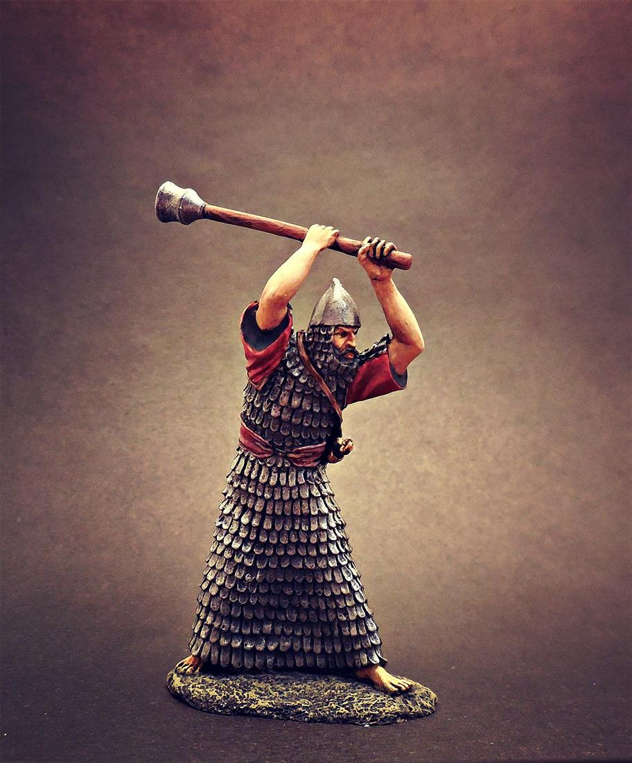 Фигурки: Ассирийский воин с булавой, фото #4