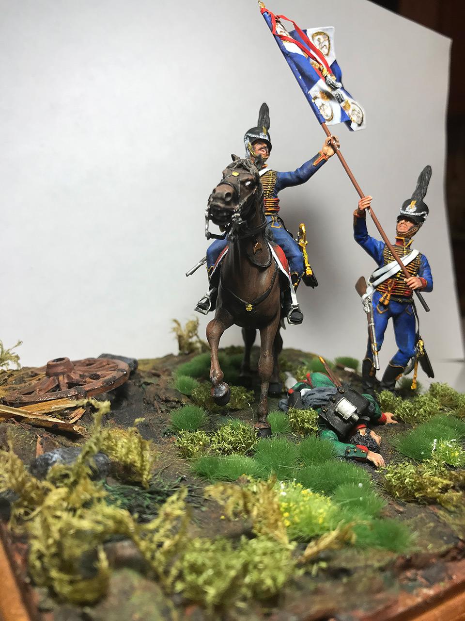 Диорамы и виньетки: Захват флага. Россия, 1812, фото #2