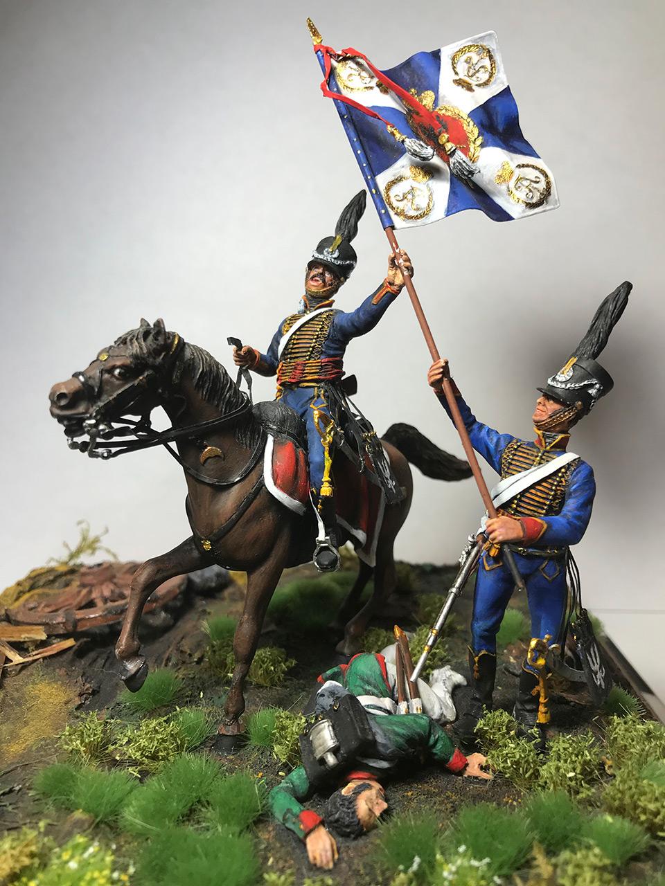 Диорамы и виньетки: Захват флага. Россия, 1812, фото #3