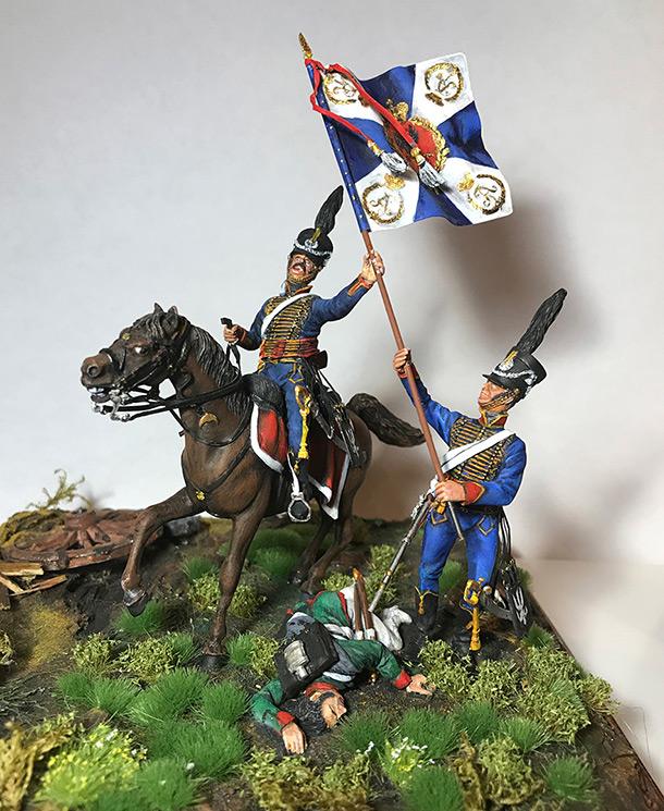 Диорамы и виньетки: Захват флага. Россия, 1812