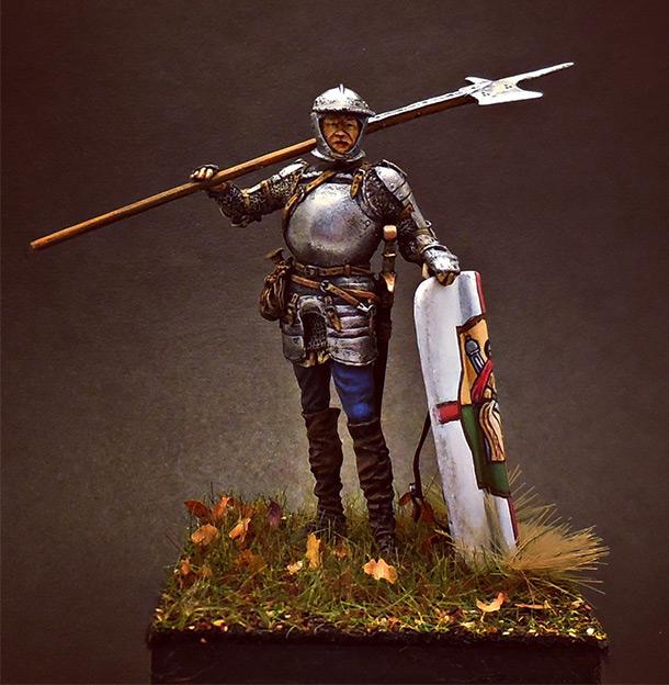 Фигурки: Европейский солдат с алебардой, 1510-25