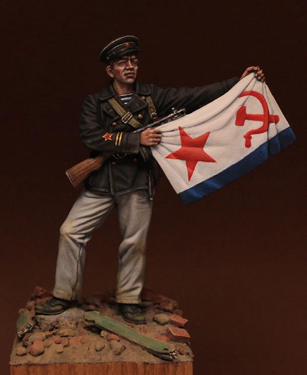 Фигурки: Старшина 1-й статьи ОБМП ВВФл, Сталинград, 1942 г.