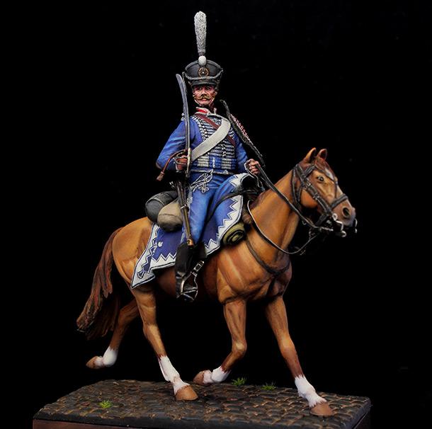 Фигурки: Гусар Белорусского гусарского полка, 1812г.