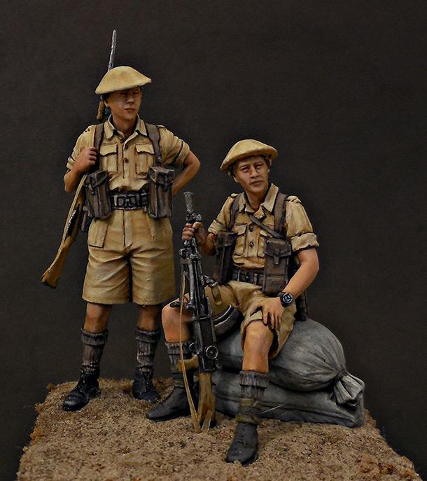 Фигурки: Британская пехота, Северная Африка, 1941-43