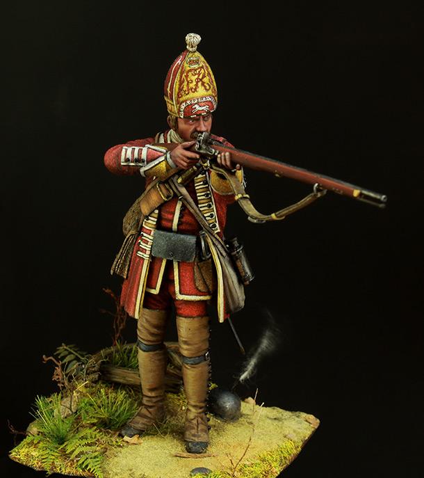 Фигурки: Британский гренадер, XVIII в.