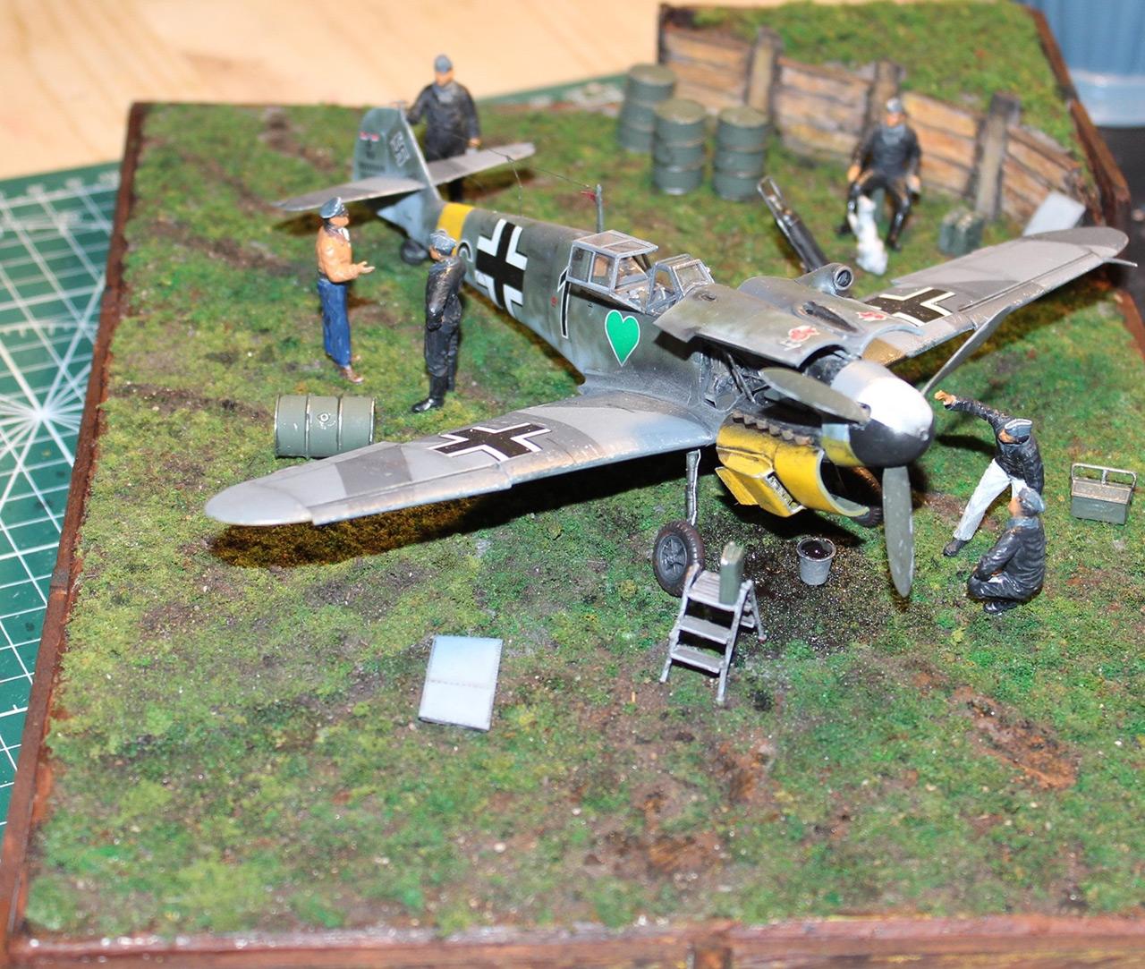 Диорамы и виньетки:  Обслуживание Me-109F-4 , фото #10