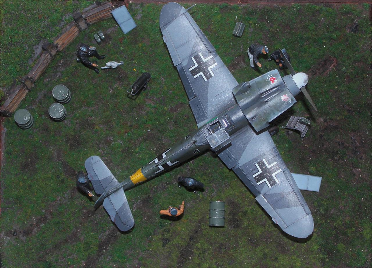Диорамы и виньетки:  Обслуживание Me-109F-4 , фото #11