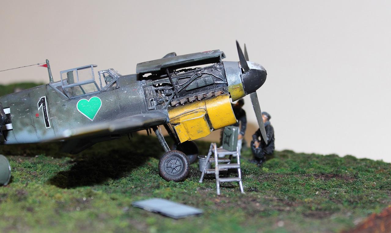 Диорамы и виньетки:  Обслуживание Me-109F-4 , фото #12