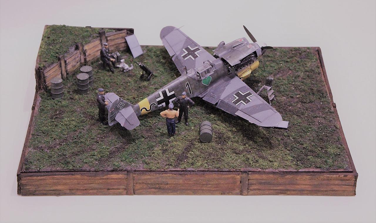Диорамы и виньетки:  Обслуживание Me-109F-4 , фото #3