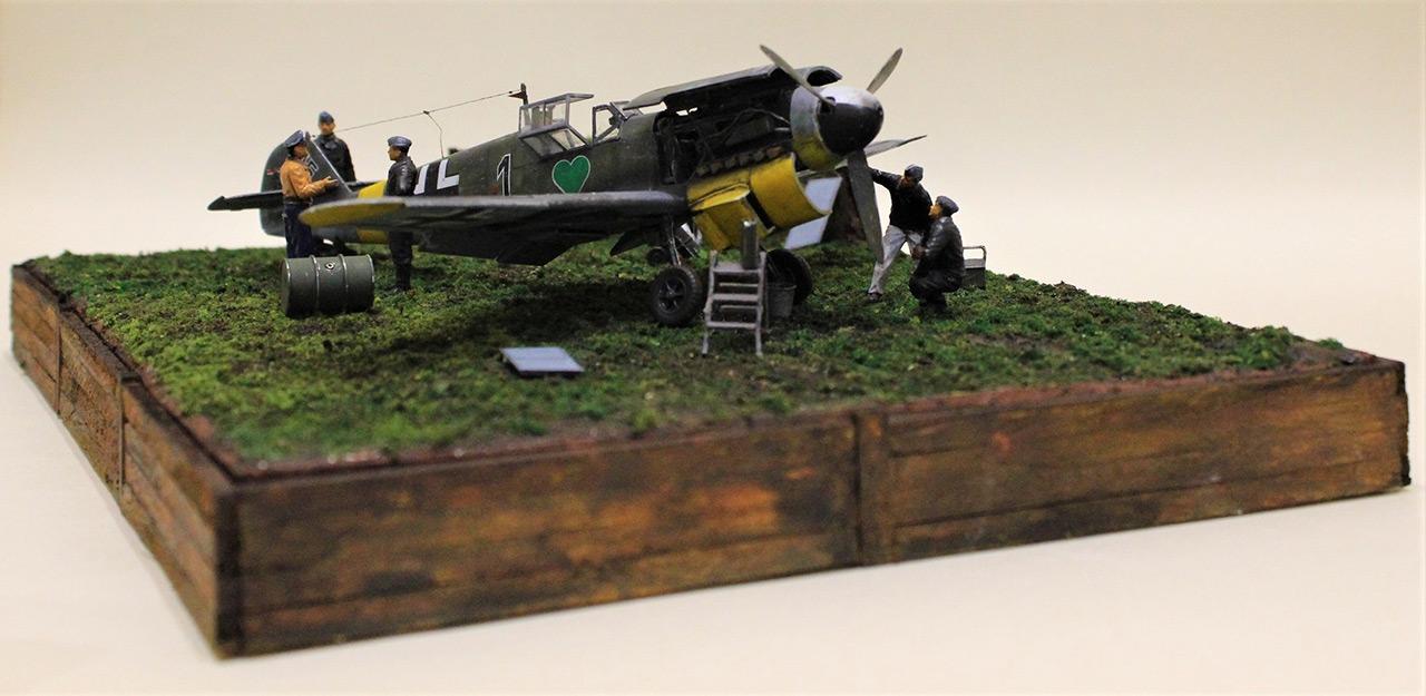 Диорамы и виньетки:  Обслуживание Me-109F-4 , фото #7