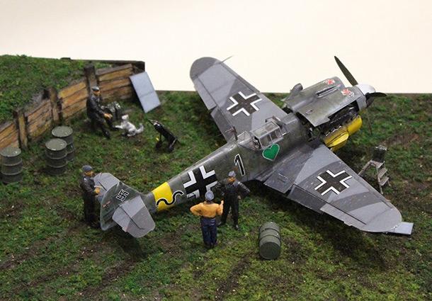 Диорамы и виньетки:  Обслуживание Me-109F-4