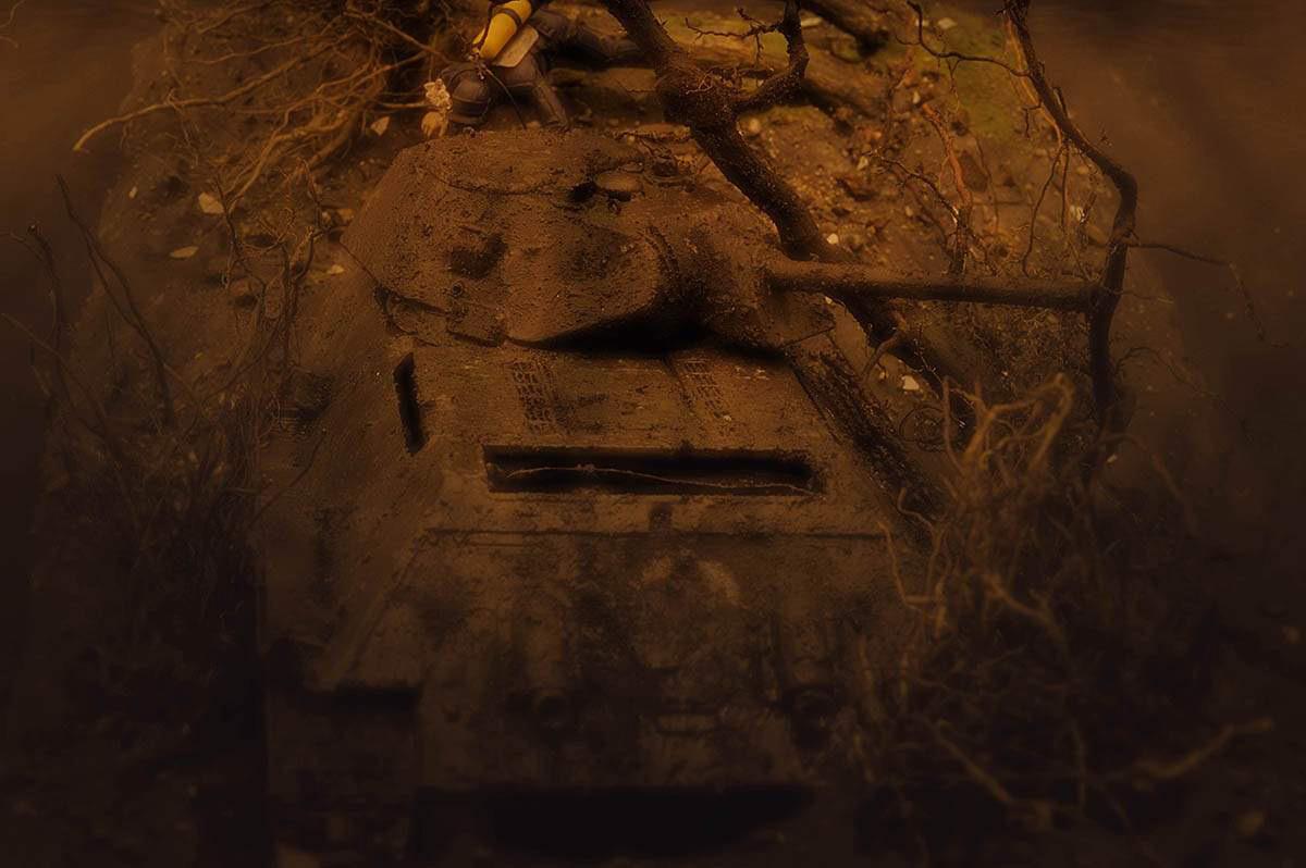 Диорамы и виньетки: Т-34/76 СТЗ. Возрождение героя, фото #21