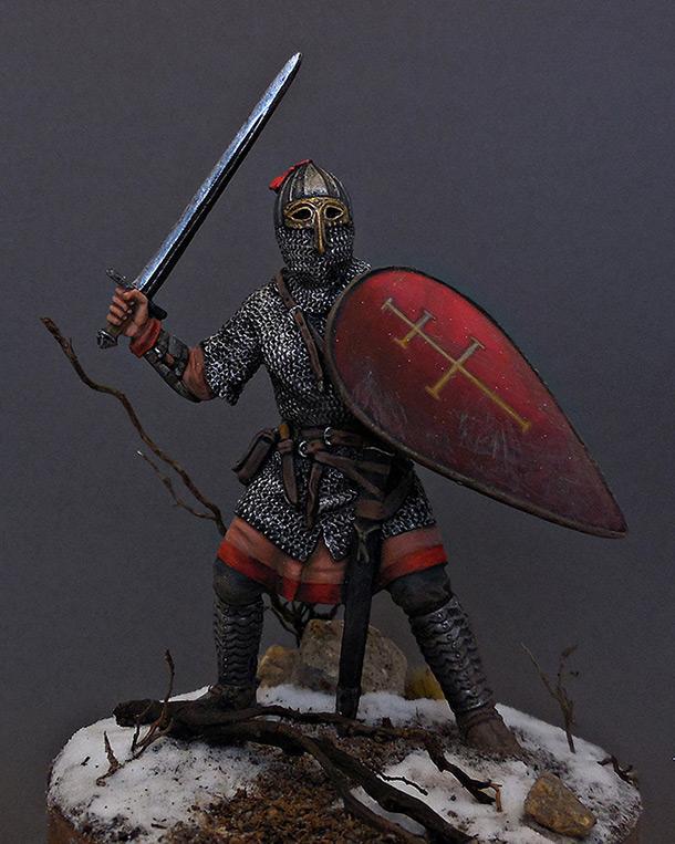 Фигурки: Русский воин-дружинник, 13 век