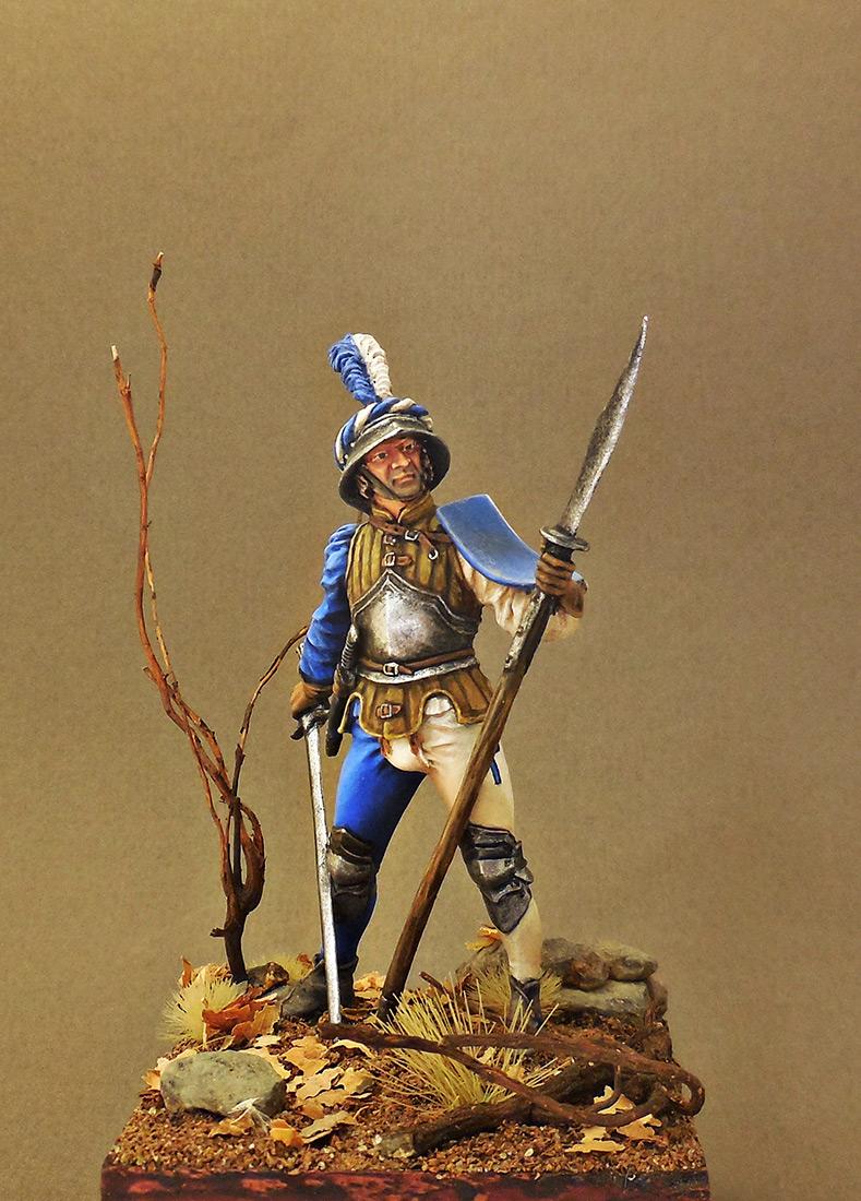 Фигурки: Швейцарский воин, XV в., фото #1
