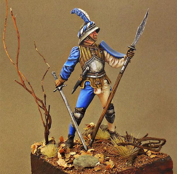 Фигурки: Швейцарский воин, XV в.