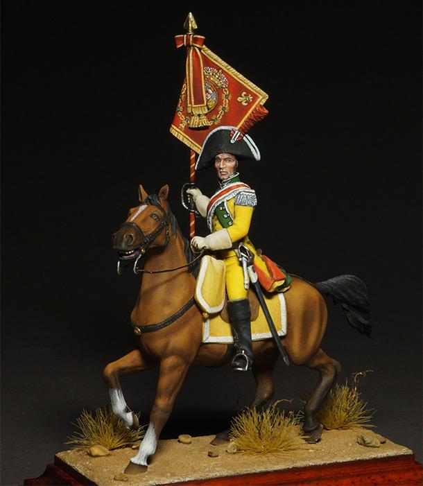Фигурки: Драгунский знаменосец полка Villaviciosa