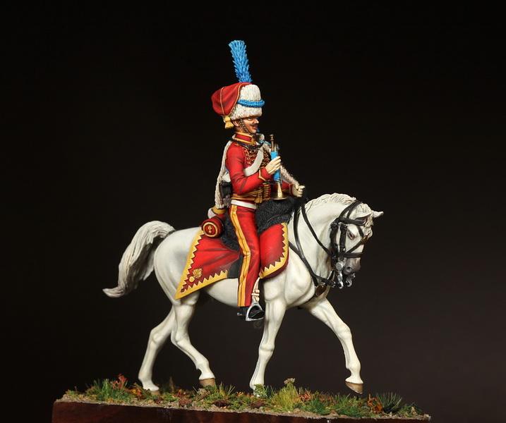 Фигурки: Трубач элитной роты 9-ого гусарского полка, фото #2