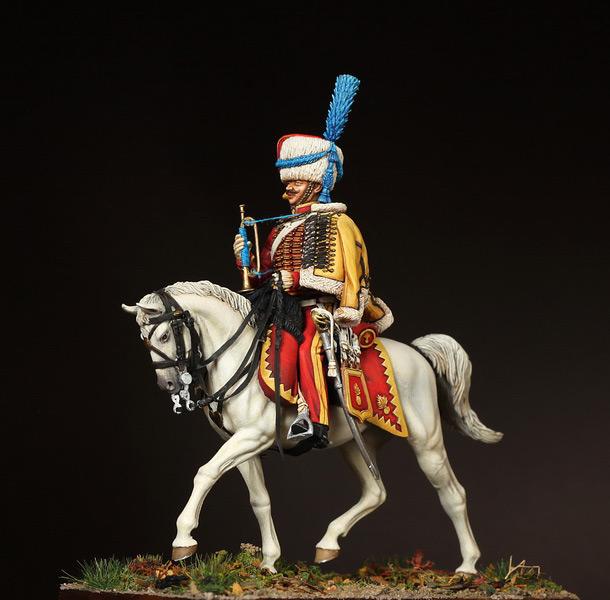 Фигурки: Трубач элитной роты 9-ого гусарского полка