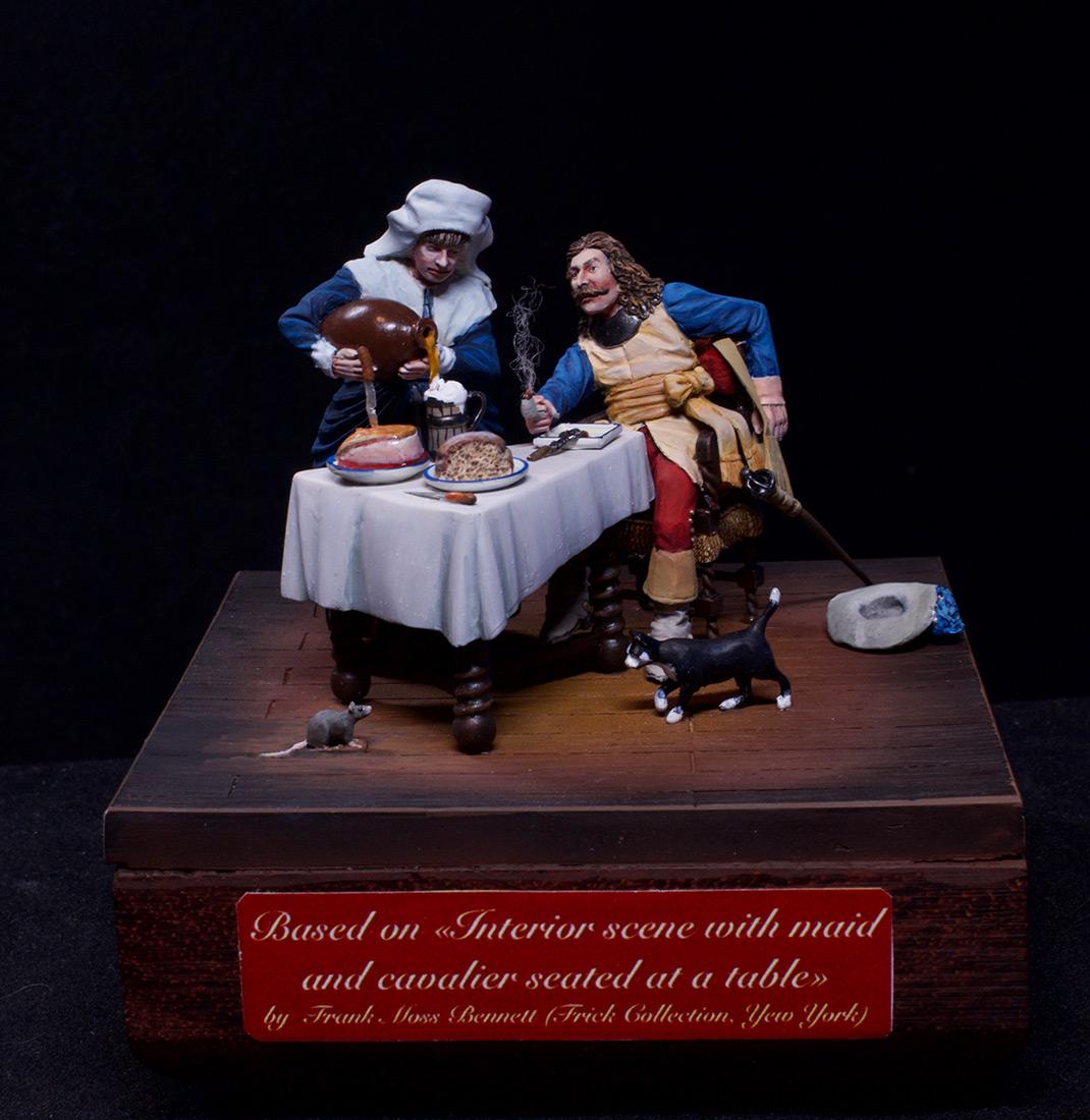 Диорамы и виньетки: Горничная и кавалер за столом, фото #1