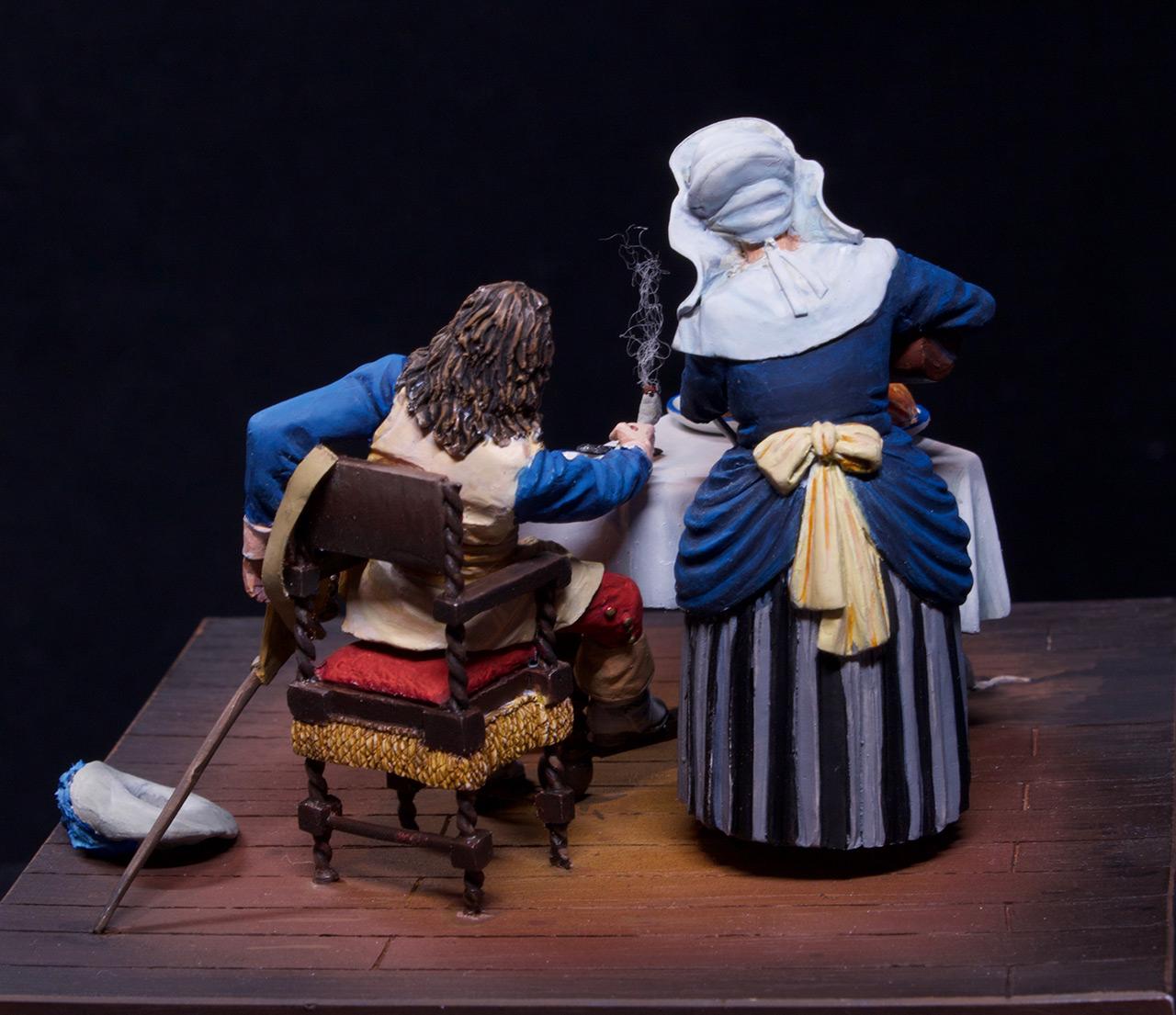 Диорамы и виньетки: Горничная и кавалер за столом, фото #10