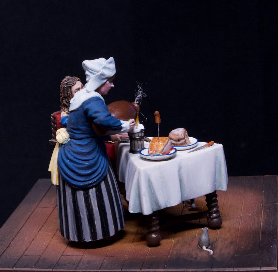 Диорамы и виньетки: Горничная и кавалер за столом, фото #13