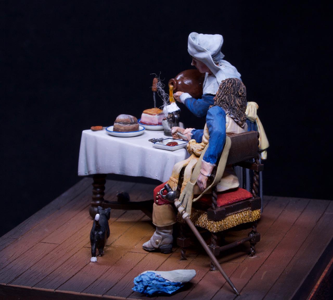 Диорамы и виньетки: Горничная и кавалер за столом, фото #14