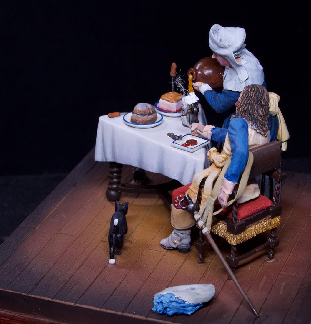 Диорамы и виньетки: Горничная и кавалер за столом, фото #15