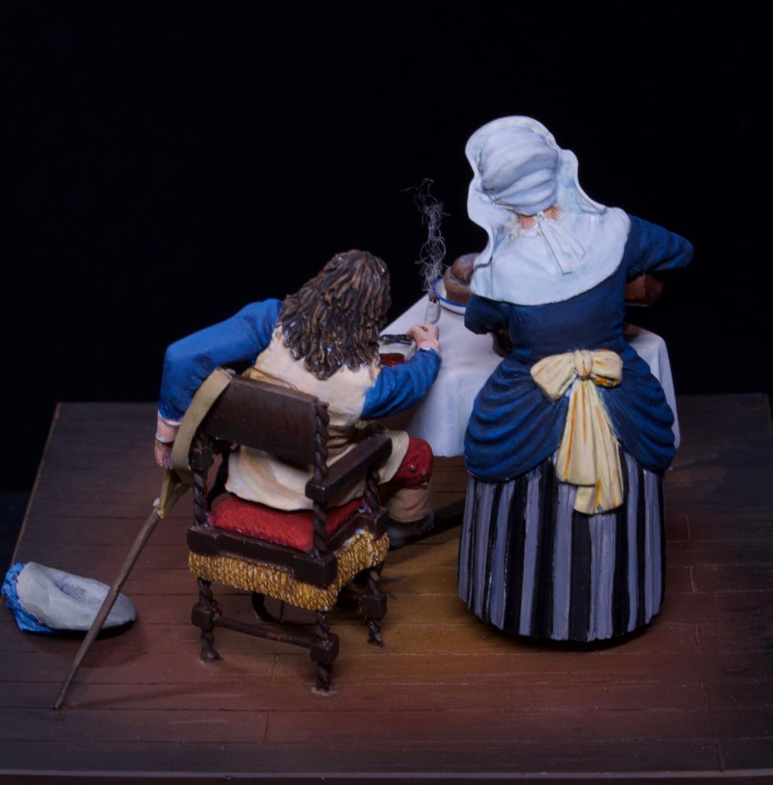 Диорамы и виньетки: Горничная и кавалер за столом, фото #16