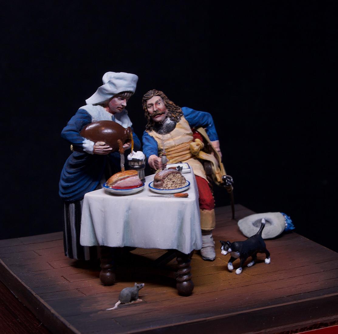 Диорамы и виньетки: Горничная и кавалер за столом, фото #2