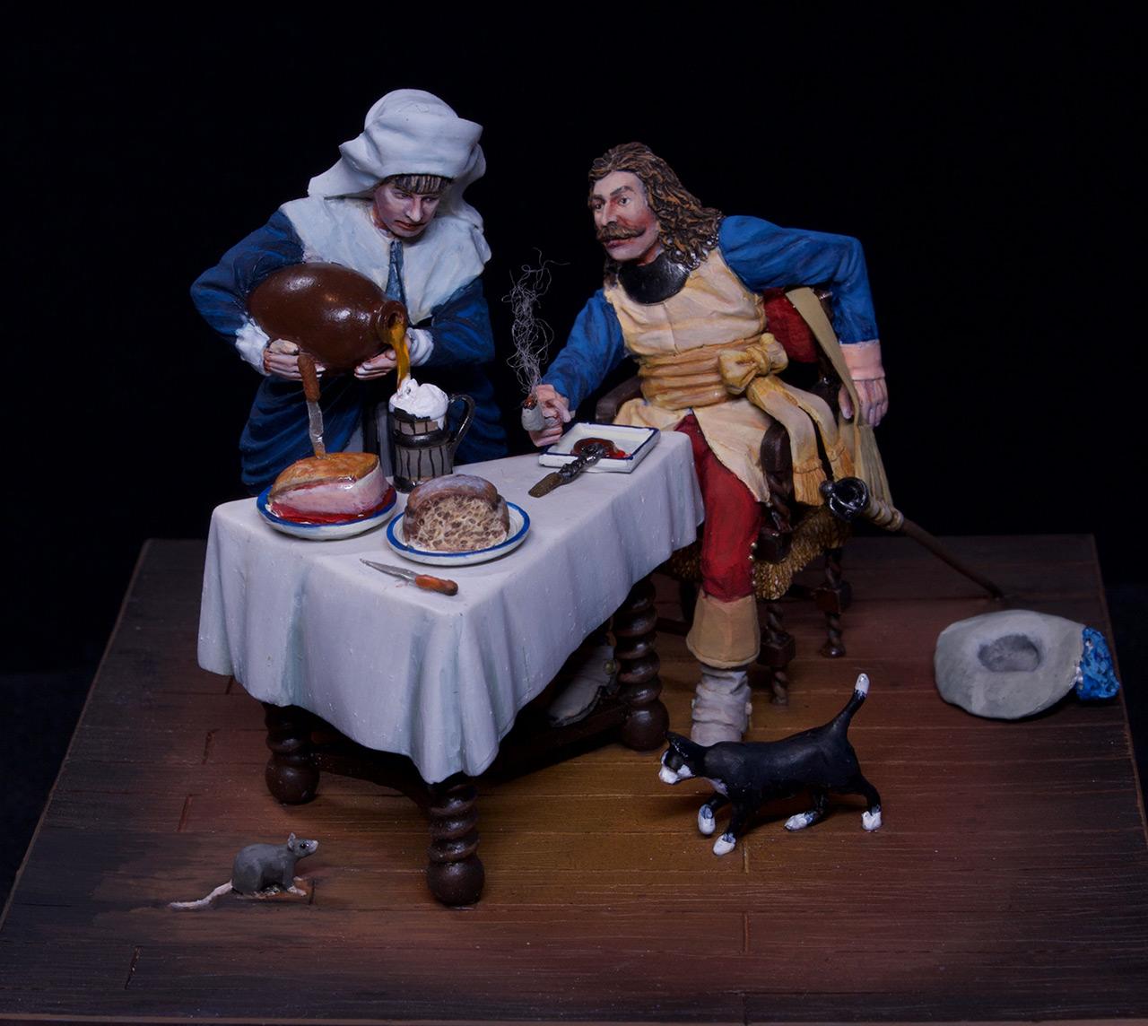 Диорамы и виньетки: Горничная и кавалер за столом, фото #3