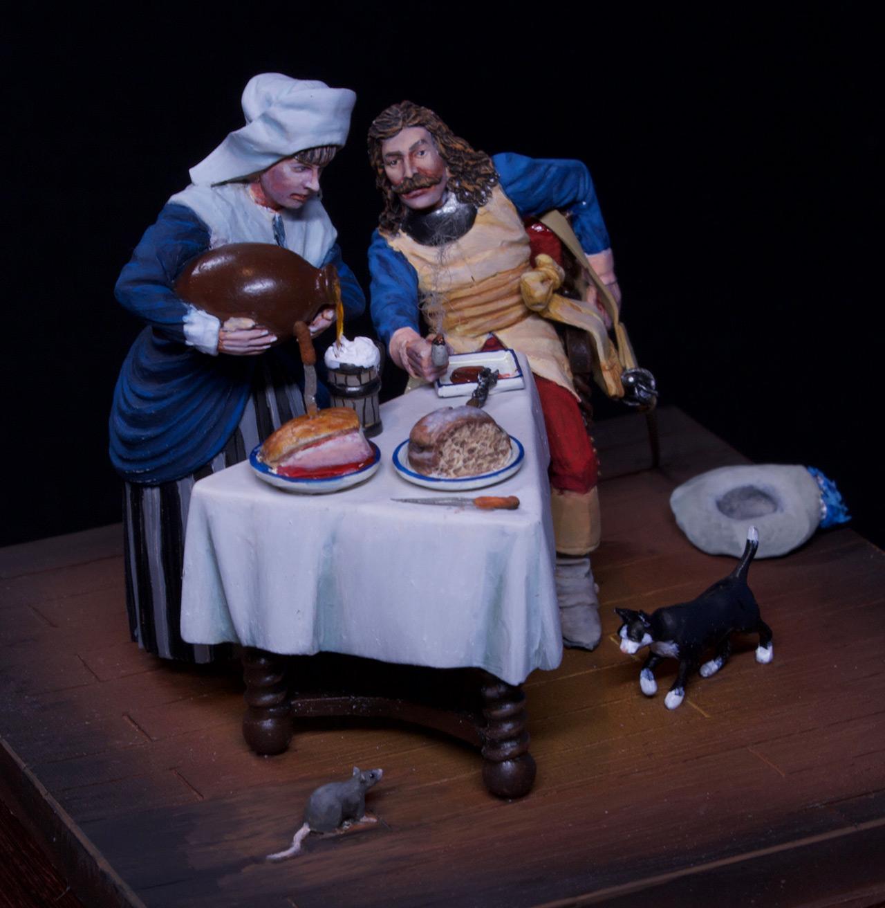 Диорамы и виньетки: Горничная и кавалер за столом, фото #4