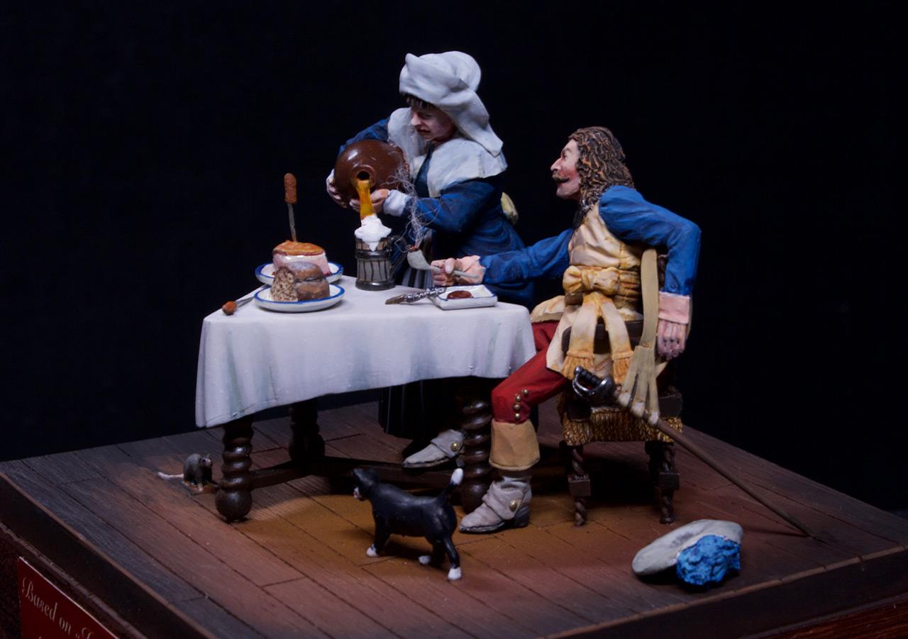 Диорамы и виньетки: Горничная и кавалер за столом, фото #5