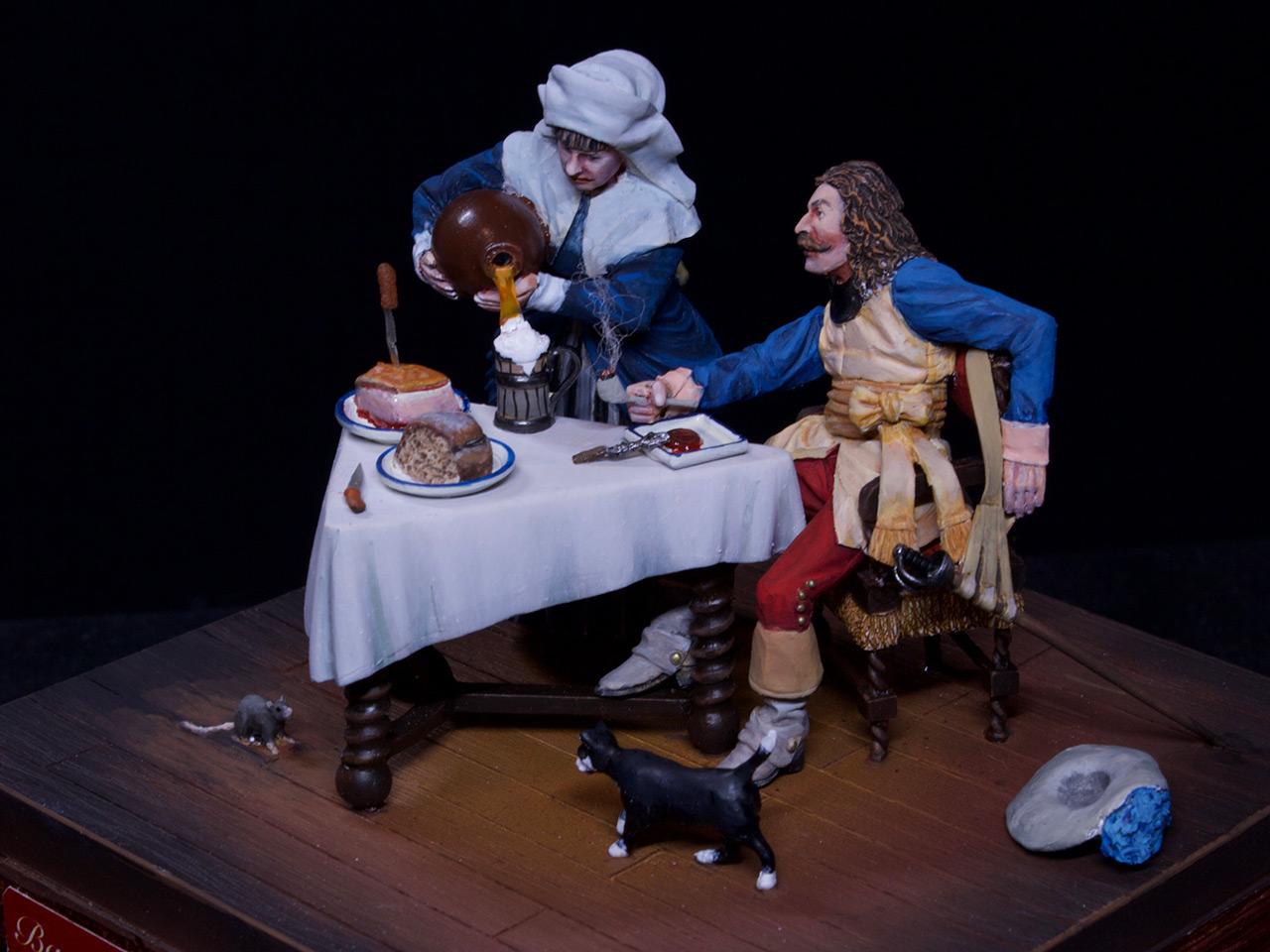 Диорамы и виньетки: Горничная и кавалер за столом, фото #7