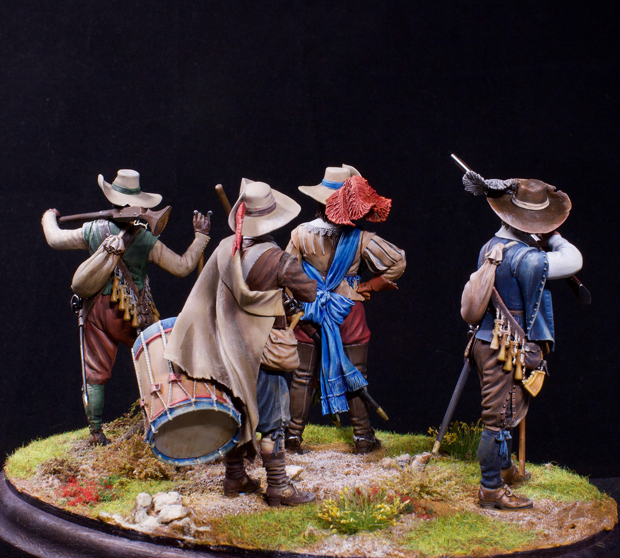 Фигурки: Мушкетеры, барабанщик и офицер, 1630 г. , фото #10