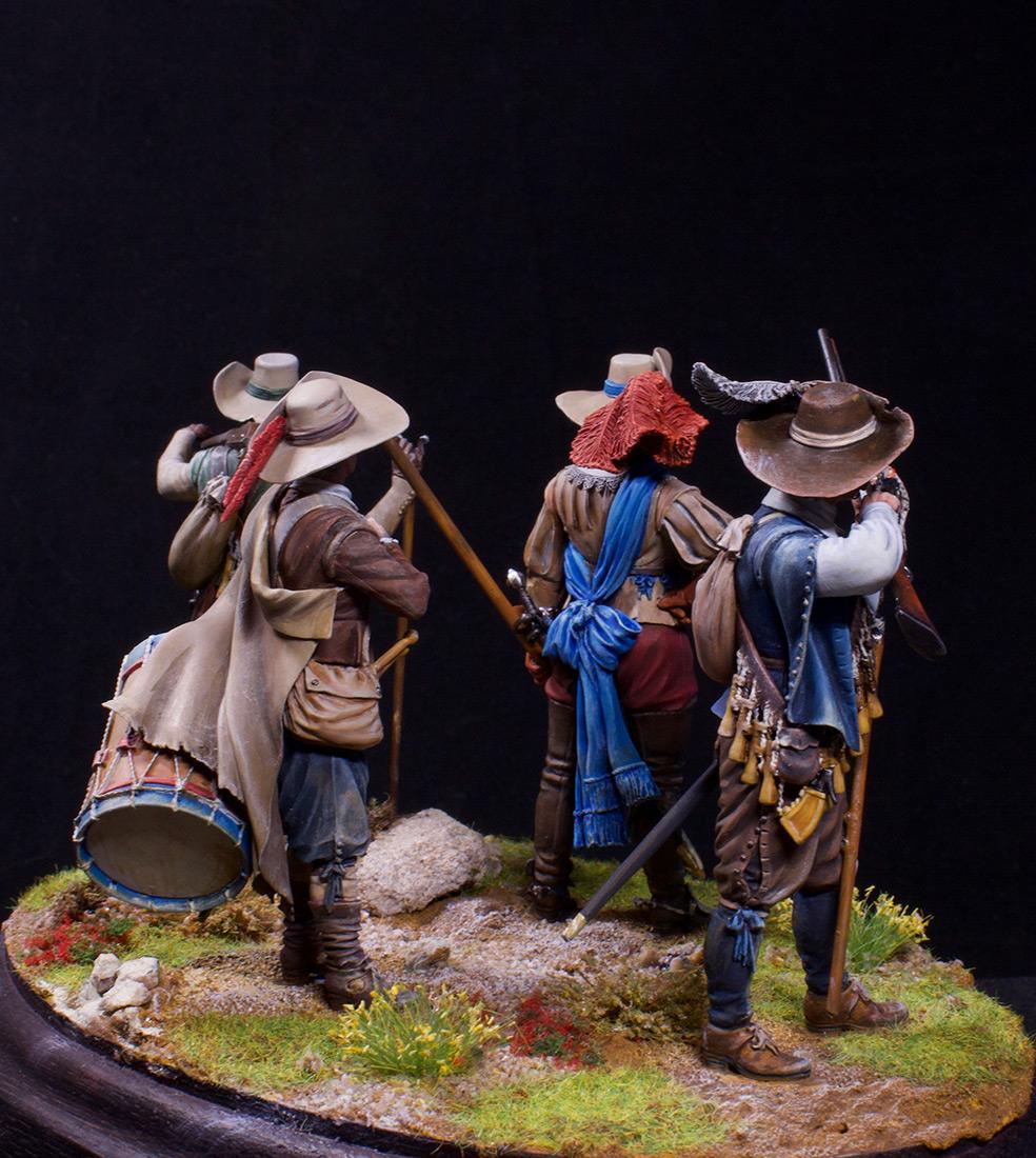 Фигурки: Мушкетеры, барабанщик и офицер, 1630 г. , фото #11