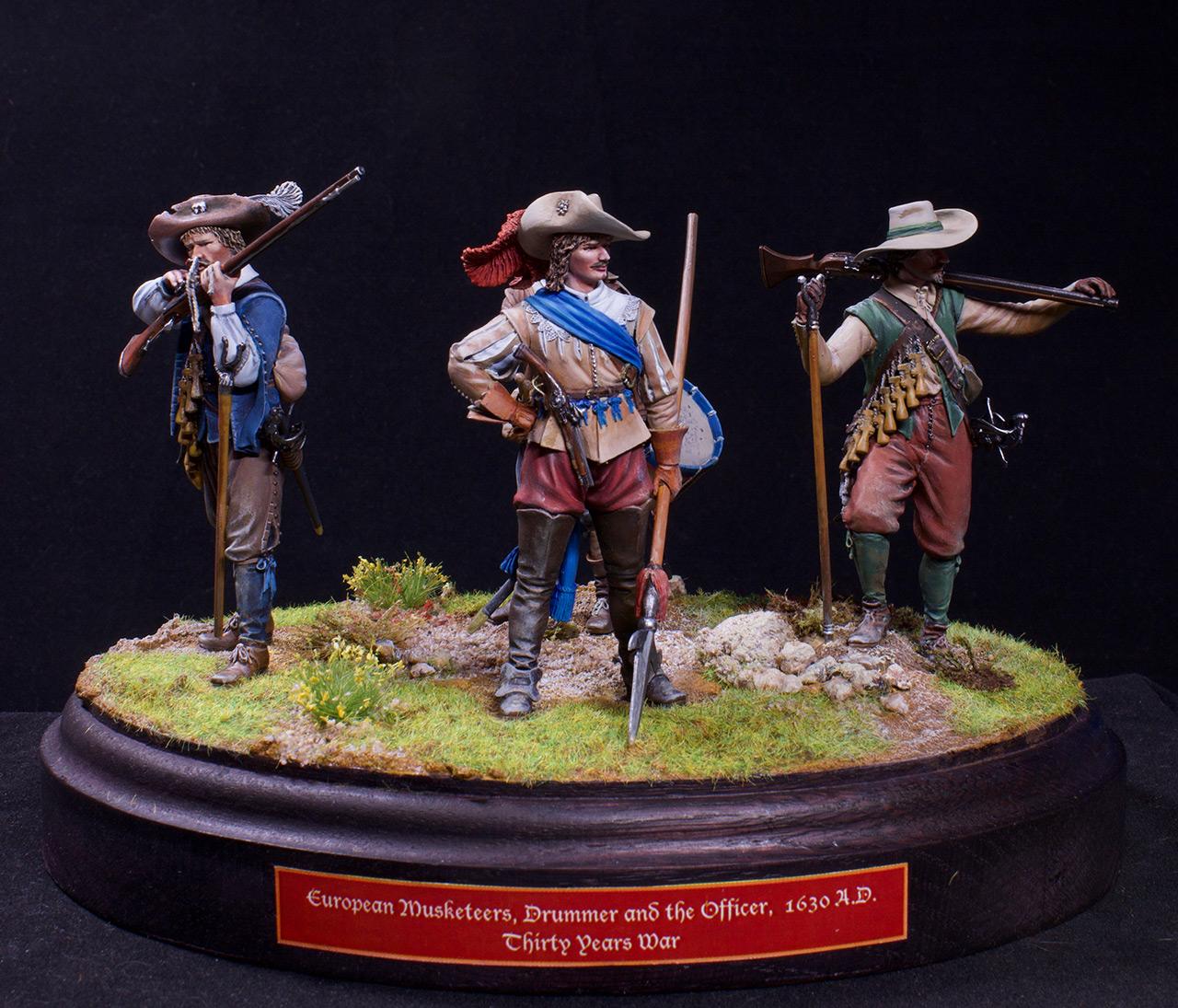 Фигурки: Мушкетеры, барабанщик и офицер, 1630 г. , фото #2