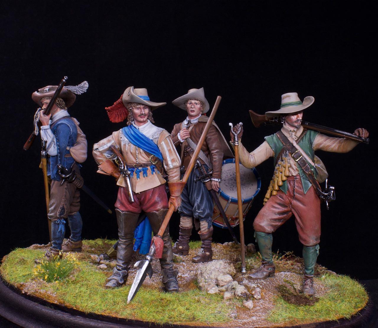 Фигурки: Мушкетеры, барабанщик и офицер, 1630 г. , фото #3