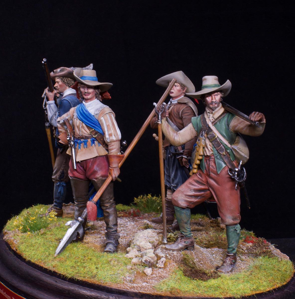 Фигурки: Мушкетеры, барабанщик и офицер, 1630 г. , фото #4