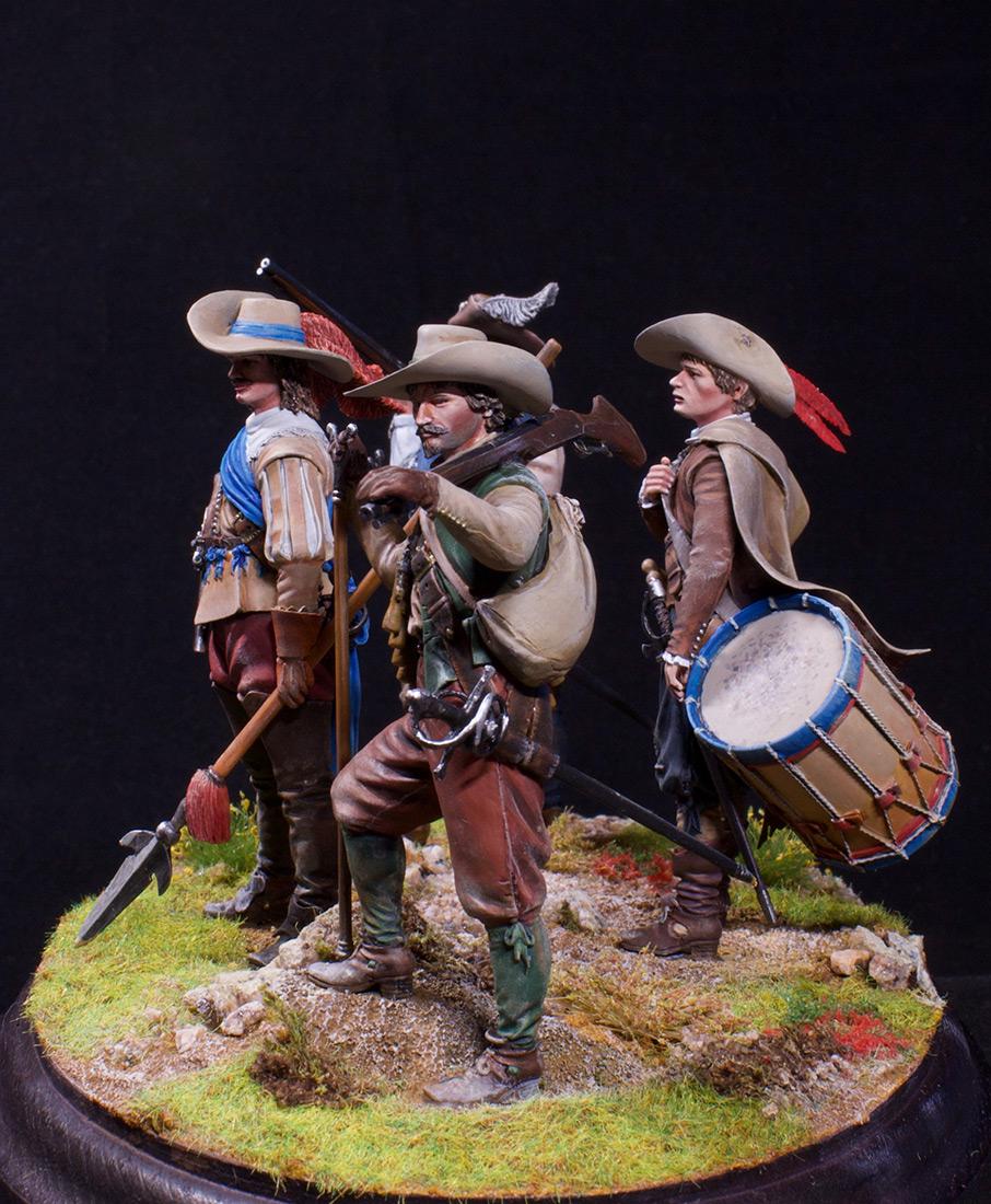 Фигурки: Мушкетеры, барабанщик и офицер, 1630 г. , фото #6
