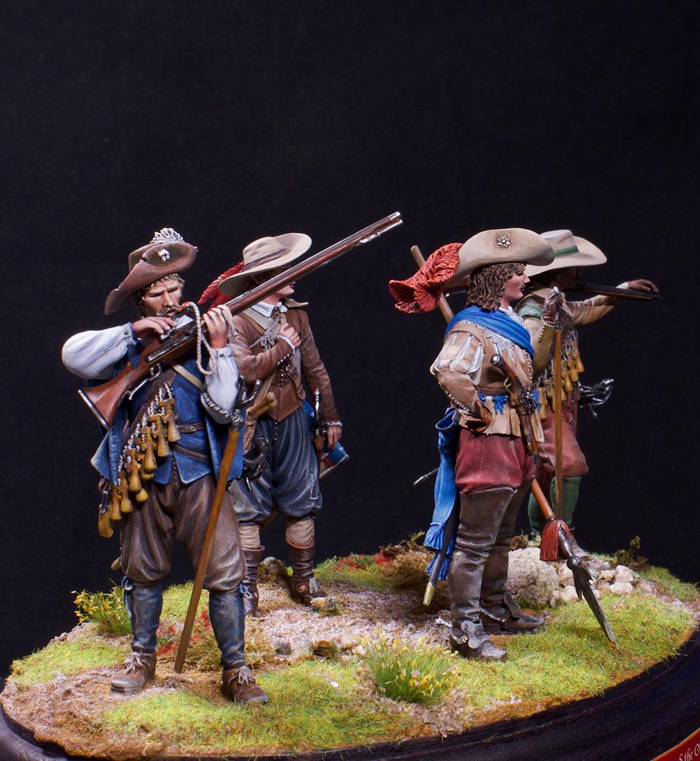 Фигурки: Мушкетеры, барабанщик и офицер, 1630 г. , фото #7