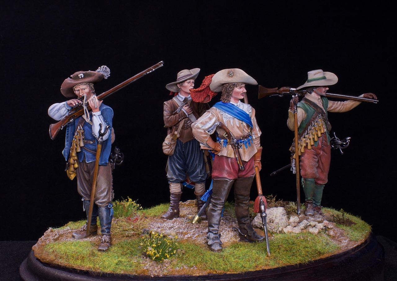 Фигурки: Мушкетеры, барабанщик и офицер, 1630 г. , фото #8