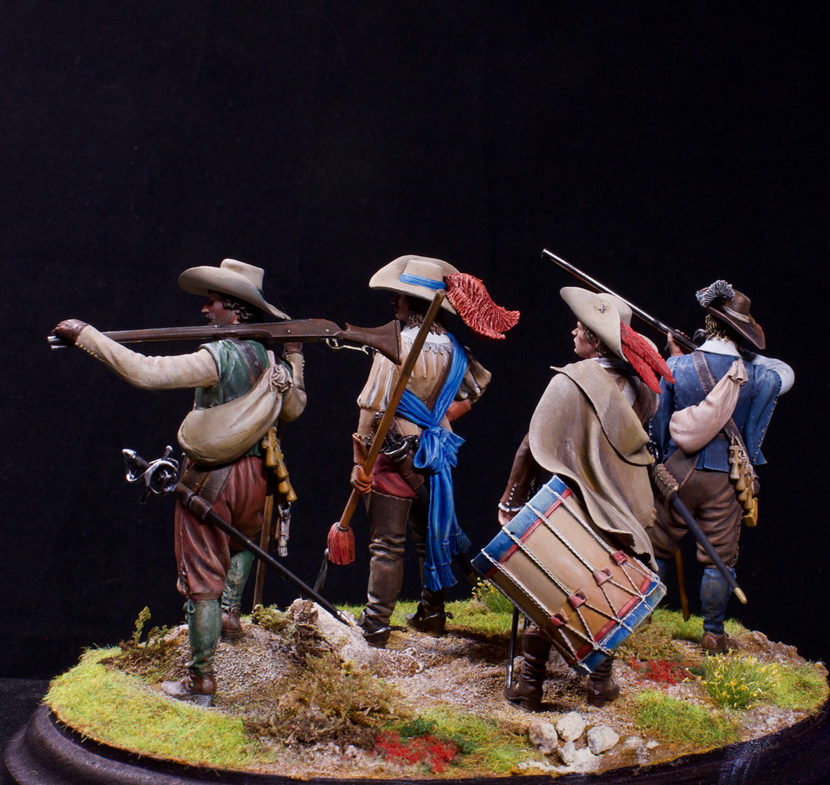 Фигурки: Мушкетеры, барабанщик и офицер, 1630 г. , фото #9