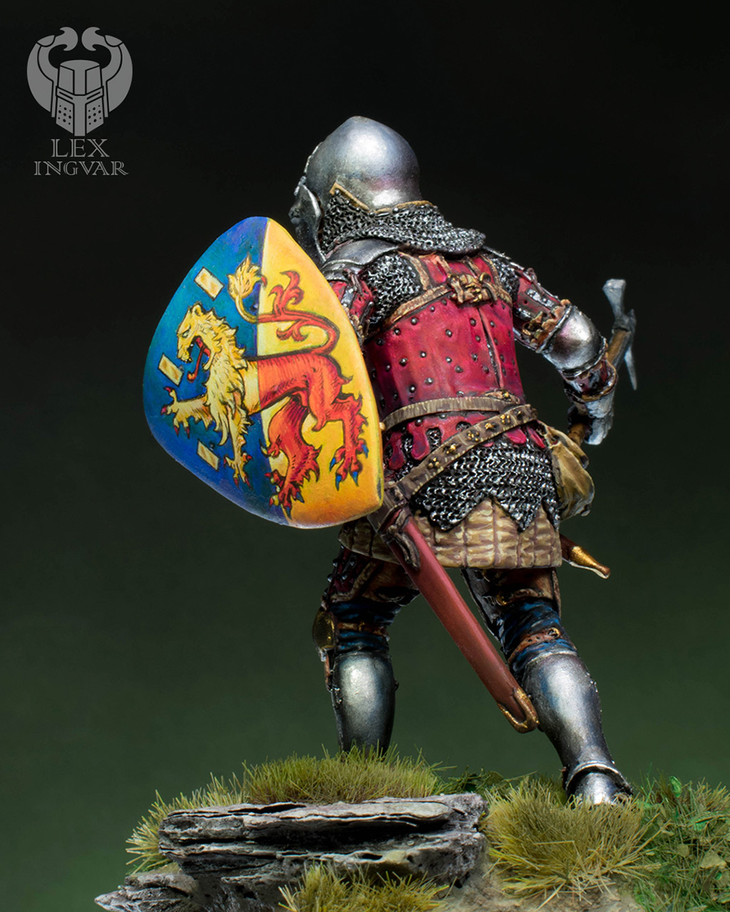 Фигурки: Германский рыцарь из рода Гогенштейнов, XIV в., фото #5